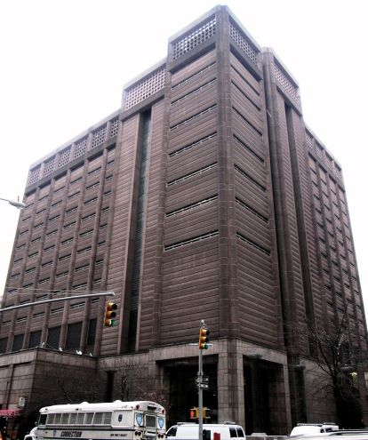 The north building of the Manhattan Detention Complex...